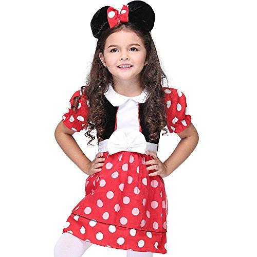 Hatter Der Kostüm Mad Mädchen - JTIH ® Halloween Kinder Cosplay Performance Kostüm Mädchen Cosplay Dance Kostüm Set (S)