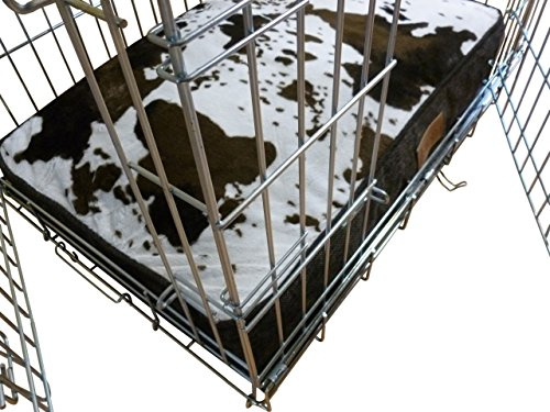Ellie-Bo-30-Inch-Dog-Cage-or-Crate-Medium-71cms-x-48cms-Cowhide-Pattern-Dog-Bed