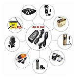 S2S Car Power Converter Adapter with Cable (Set of 2, Black)