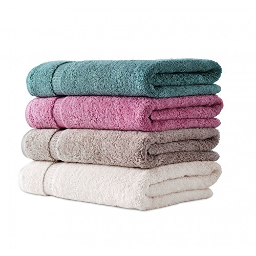 Fresh From Loom Cotton Bath Towel (4 Multi Bath Towel, Multicolor-Assorted)