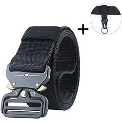 Leathario Cinturón táctico Ajustable de Equipo Militar Pesado Nylon para Riggers al aire libre para Hombre Y Mujer