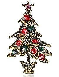 Azalea Árbol de Navidad Vestido Clip Exquisito Chica Pasadores Bufanda Moda Broche Simple Señoras Joyería Declaración