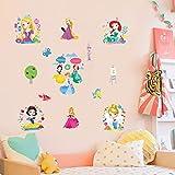 Fashion Wall Stickers-Wandtattoos Kinderzimmer Papier Schlafzimmer Wohnzimmer warm Cartoon Tapete Dekoration Aufkleber Kindergarten Prinzessin.