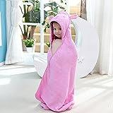 Addfun reg;100% Baumwolle Karikatur Niedlich Hase Baby Mantel Mit Kapuze Handtuch Bad Handtuch 90CM X 90CM(Rosa)