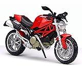 ASENER Ducati Monster 1100 Red Motorrad Maßstab 1:12