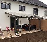 Luxbach GmbH Terrassenüberdachung 500x500 cm / 5x5 m Terrassendach Überdachung Carport Leimholz Pergola BSH Holz Stegplatten 16mm Klar Hohlkammerplatten