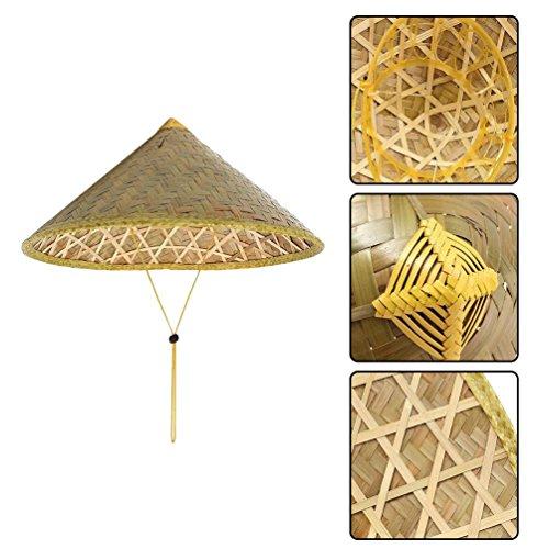 Gugutogo Chinesische Sonnenhut Krempe Bambus Strohhut Tourismus Bauer -