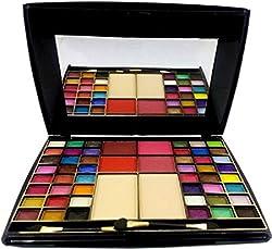 7 Heavens Makeup Kit 48 Color Makhmali Eyeshadow with 4 BLU sher+2 Compact Powder, 65g