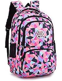 Mochila para niñas mochila escolar, Mochila mochila - Ideal para 1 2 3 4 5 6 Grado Estudiantes Niños Adolescentes Daypacks casuales Bolsa de viaje Uso diario
