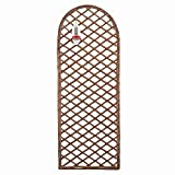 Gardman 45cm x 1.2m Framed Willow Trellis Panel Curved Top