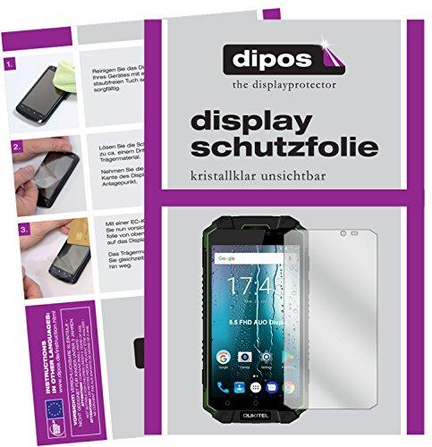 dipos I 2X Schutzfolie klar passend für Oukitel K10000 Max Folie Bildschirmschutzfolie