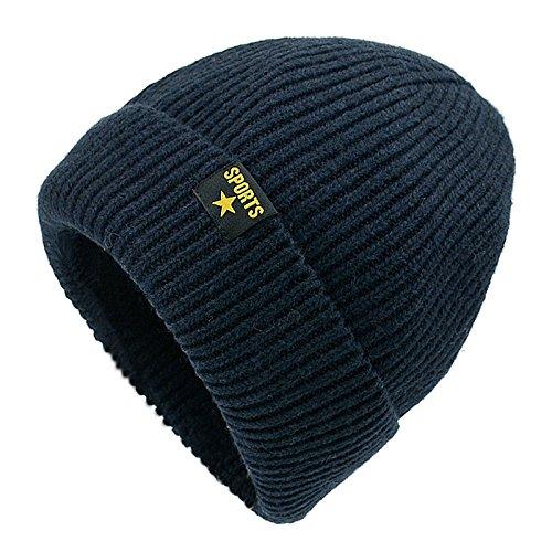 Howyouth® cappello uomo donna invernale berretto uomo in maglia (marina militare)