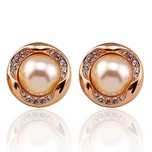 senza orecchio cuscino e clip orecchio/Orecchio elegante diamante perla clip l'atmosfera/ orecchio-A