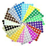 Farbige Punkte,25 mm Punkt-Aufkleber 14 Farben 672 Klebepunkte Runde Dot Aufkleber für Farbkodierungskalender, DVDs, Sch
