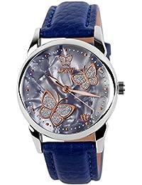 ufengke® schöne band schmetterling skala lichtwasserdichte armbanduhr armbanduhren,kleidmädchengeschenk armbanduhren,blau