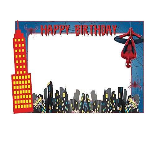 Party Propz Spiderman Theme Photobooth Frame (2Ft)