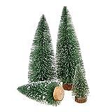 Mini Albero di Natale, Artificiale Albero Assortiti di Natale Pini / Natale Decorata Bianco naturale ricoperto di neve, 4 pcs