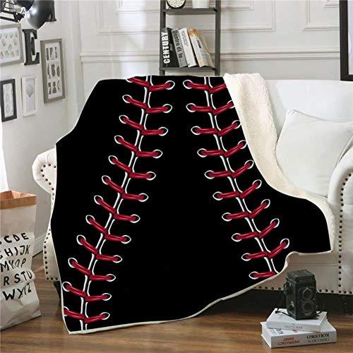 Fgvbwe4r 3d ball sports sherpa coperta velluto peluche coperta in pile copriletto divano divano copripiumino coperta da viaggio, 9.150 * 200