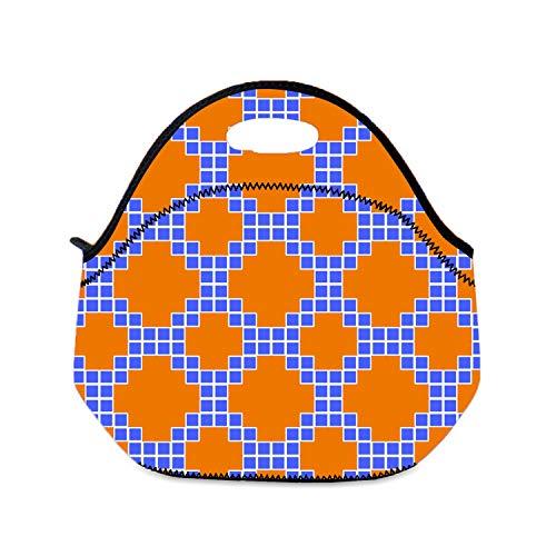 Kleine Lunchtasche für Mädchen, geometrisches Design, Kinder-Lunchtasche, leicht, Polyester, Pattern Texture3, Einheitsgröße