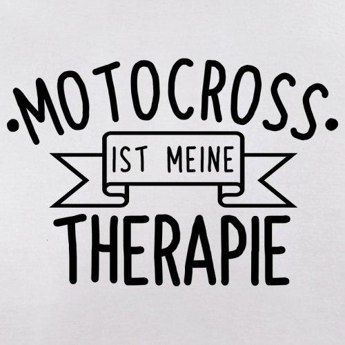 Motocross ist meine Therapie - Herren T-Shirt - 13 Farben Weiß
