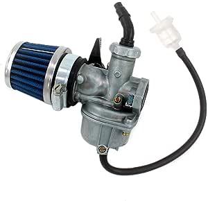 Aisen 22mm Vergaser Pz22 Mit Luftfilter Für 4 Takt Atv Pit Dirt Bike Quad Go Karts 110cc 125ccm 140ccm 150ccm Baumarkt
