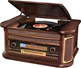 Roadstar HIF-1899TUMPK - Tocadiscos (AM/FM, reproductor de CD, USB), color marrón
