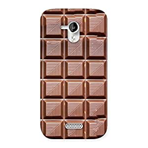 Delighted Delicious Choco Back Case Cover for Micromax Canvas HD A116