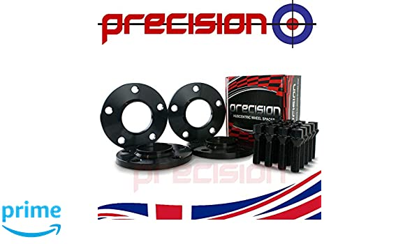 Precision 2 Pairs of Black 12mm Hubcentric Wheel Spacers /& Bolts for ƁMW 4 Series 2011 On PN.SFP-4PHS3B+20BM42545B114