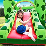 Combo Große Hüpfburg, Kinder Aufblasbare Trampolin Bounce House Frog Bouncy Haus Schloss Mit Luftgebläse Wasserrutsche - 3