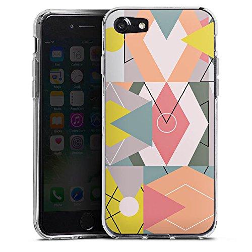 Apple iPhone X Silikon Hülle Case Schutzhülle Grafik Geometrisch Art Silikon Case transparent