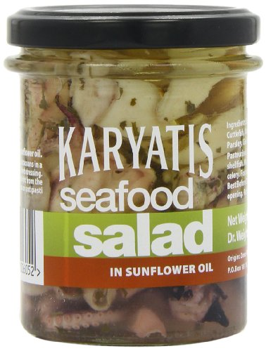 Karyatis Seafood Salad in Sunflower Oil 200 g (Pack of 3 Jars)