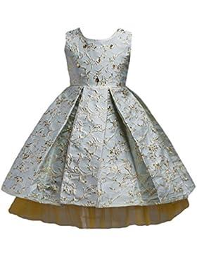 WanYang Vestido Princesa Para Niñas Bebés Vestido De Boda Broncear Flores Net Hilado Sin Mangas Vestido
