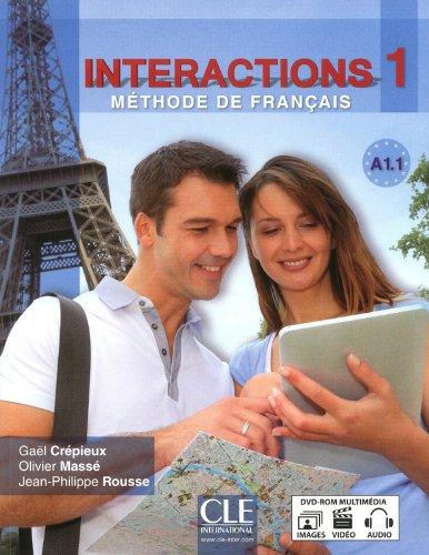 Interactions 1 - Niveau A1.1 - Livre de l'élève + DVD Rom