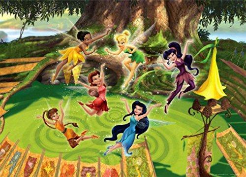 Preisvergleich Produktbild 1art1 77955 Disney Fairies - Tinkerbell, Emily, Rosetta Und Feen, In Fröhlicher Stimmung Fototapete Poster-Tapete 160 x 115 cm