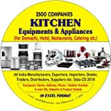 Kitchen Equipments & Appliances for Domestic, Hotel, Resturants, Catering etc. Data 2018