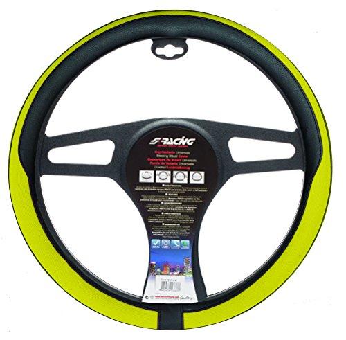 Simoni Racing CVT/43Y Universal Lenkrad Abdeckung, Yellow und Schwarz