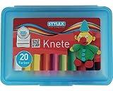 Stylex Knete, 20 Stangen in Kunststoffbox (2er Pack) -