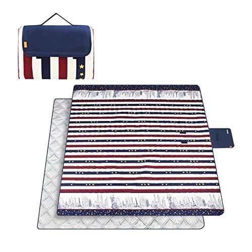 (GL-outdoor Extra große Picknickdecke Dicker Teppich wasserdicht 200 x 200 cm Urlaub Strand Reisen Camping im Freien)