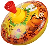 Bolz 52531 - Brummkreisel Disney's König der Löwen, Ø 13 cm, Schwungkreisel aus Blech, mit Holzgriff und Kunststoff Standfuss, Musikkreisel erzeugt mehrstimmige Töne, Spielzeugkreisel für Kinder ab 1,5 Jahre, Blechkreisel Metall mit Disney Motiv