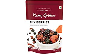 Nutty Gritties Mix Berries - Dried Black Currants, Blueberries, Strawberries and Cranberries - 200GMS