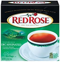 Red Rose Decaffeinated Tea, 48 Count (Pack of 4)
