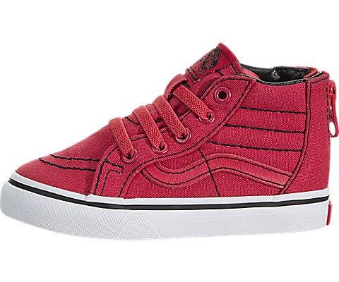 Vans Jungen Kleinkinder Sk8-Hallo Zip (Kontrast-Stich) Skate-Schuh 6 Kleinkinder US 6 M US Kind Roccocco/Rot/True/Weiß - Kleinkinder Rote Vans