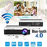 Bluetooth WiFi HD LED Vidéoprojecteur 4500 Lumens Multimédia Android LCD Projecteur...