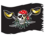 Amscan Pirat Flagge, rot