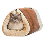 fulla2116Tube 2en 1lit Tapis chat et grand lit pour animal de compagnie avec thermique Core Tapis auto-chauffant pour chien, Accessoires