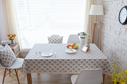 Stoff Home Individuelle rechteckig Tisch Tuch Baumwolle Leinen Tischdecke Garten Pflanzen Style Dekorative Tabelle Cover, Baumwolle und Bettzeug, Garden Plants Style, 55*71 Inch(140x180cm)
