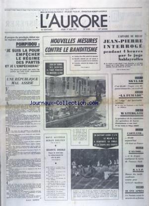 AURORE (L') [No 8929] du 17/05/1973 ...