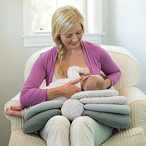 JLRQY Oreillers De Soins Infirmiers De Maternité pour L'Allaitement Auto-Alimentant L'oreiller De Bébé, 3 Modes Réglables en Hauteur