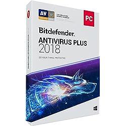 Bitdefender Antivirus Plus 2018 | 1 PC | 1 an | Disc
