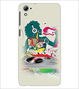 PrintDhaba Abstract Design D-3044 Back Case Cover for HTC DESIRE 826 (Multi-Coloured)